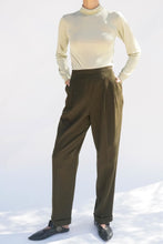 Green Wool Trousers