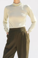 Sage Silk Turtleneck