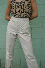 Leather Cream Trousers