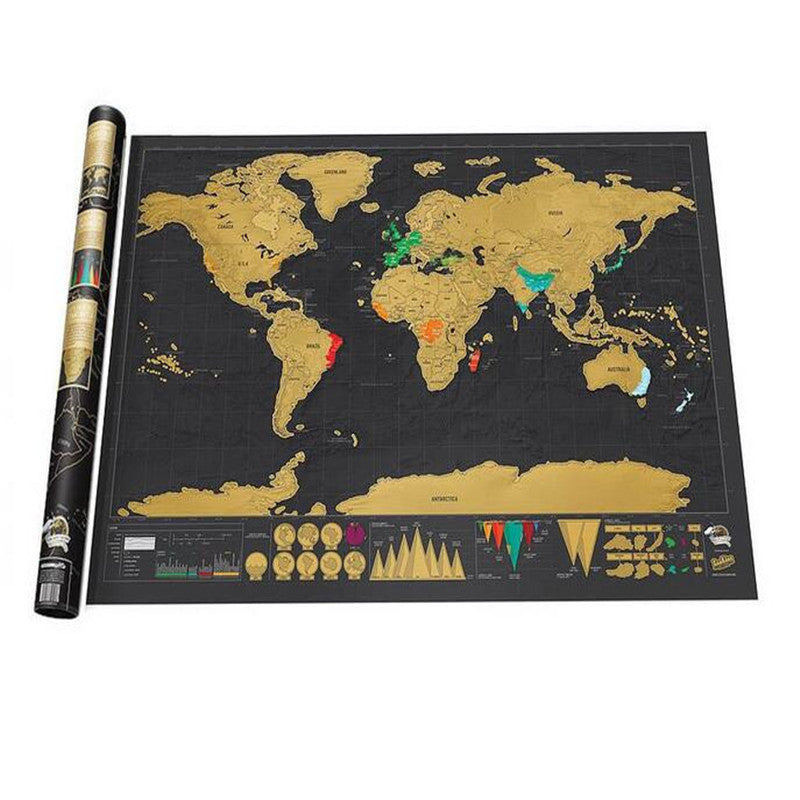 Scratch Off World Map Poster - Special Offer