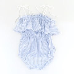 """NEW"" Candy Stripes Frilly Playsuit"