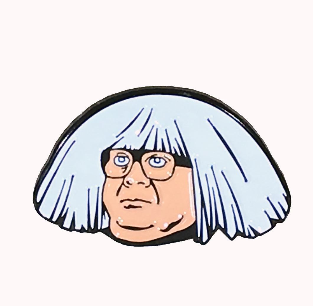 Ongo Gablogian the Art Collector enamel pin