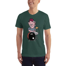 Bill Kreutzmann Grateful Dead Band Member Caricature Short-Sleeve T-Shirt - GlipGlopShop.com