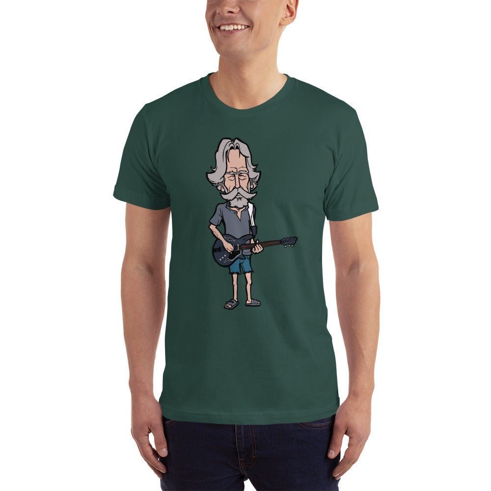 Bob Weir Grateful Dead caricature Short-Sleeve T-Shirt - GlipGlopShop.com