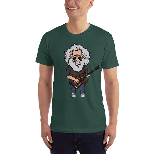 Jerry Garcia Grateful Dead Band Member Caricature Short-Sleeve T-Shirt - GlipGlopShop.com