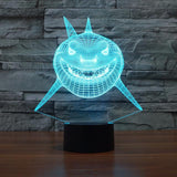 UBIKORT Shark Tale Inspired 3D Optical Illusion Lamp - 3D Optical Lamp