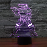 Teenage Mutant Ninja Turtles Inspired Michelangelo 3D Optical Illusion Lamp - 3D Optical Lamp