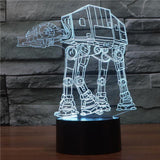 Star Wars Inspired AT-AT Walker 3D Optical Illusion Lamp - 3D Optical Lamp