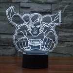 Comics Inspired Flying Superman Sculpture 3D Optical Illusion Lamp - 3D Optical Lamp