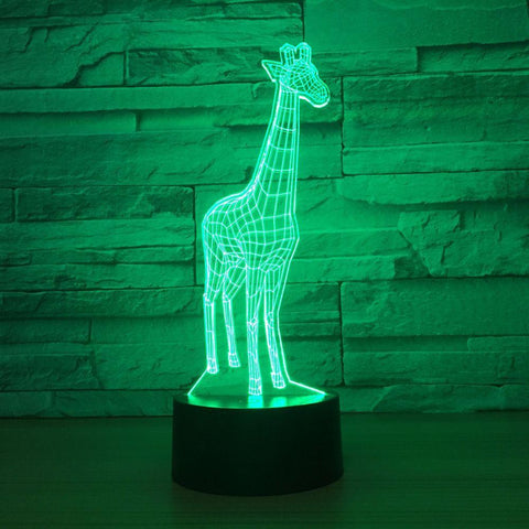 UBIKORT Adorable Giraffe 3D Optical Illusion Lamp - 3D Optical Lamp