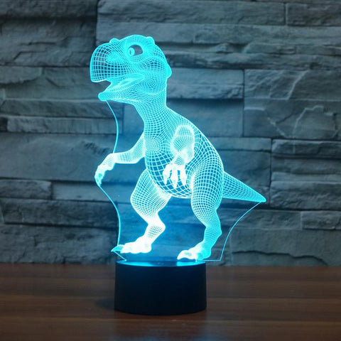 UBIKORT Adorable Cartoon Dinosaur 3D Optical Illusion Lamp - 3D Optical Lamp