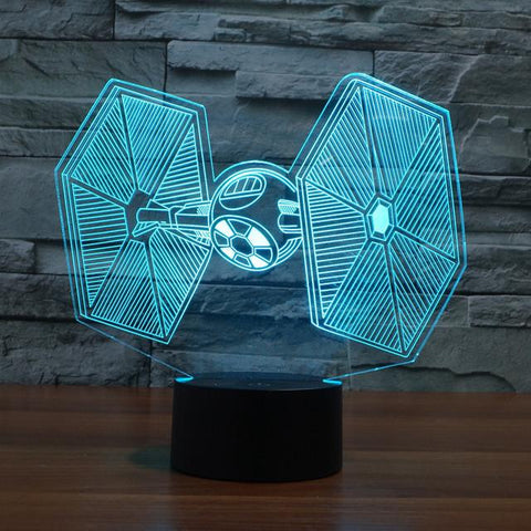 Star Wars Inspired Tie Fighter 3D Optical Illusion Lamp - 3D Optical Lamp