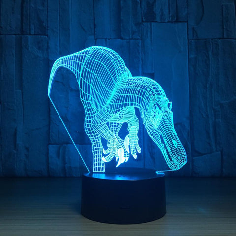 UBIKORT Tyrannosaurus Rex 3D Optical Illusion Lamp - 3D Optical Lamp