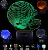 UBIKORT Night Lights for Kids 3D lamp Illusion, UBIKORT Baby Night Light Great Easter Gift for Sport Fans, Helps Kids Sleep Better with a Glow Light, 8 Modes Color