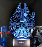 3D Night Light Star Wars Millennium Falcon Lamp GREAT Birthday Gift for Kids Bedroom Decor Star Wars Fans