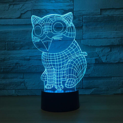 UBIKORT Cartoon Cat 3D Optical Illusion Lamp - 3D Optical Lamp