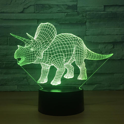 UBIKORT Dinosaur 3D Optical Illusion Lamp - 3D Optical Lamp