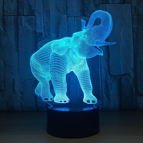 UBIKORT Elephant Touch 3D Optical Illusion Lamp - 3D Optical Lamp