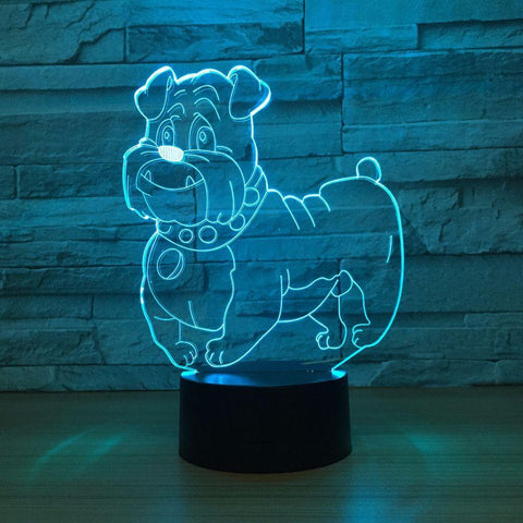 UBIKORT Pet Dog 3D Optical Illusion Lamp - 3D Optical Lamp