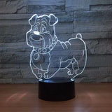 Pet Dog 3D Optical Illusion Lamp - 3D Optical Lamp