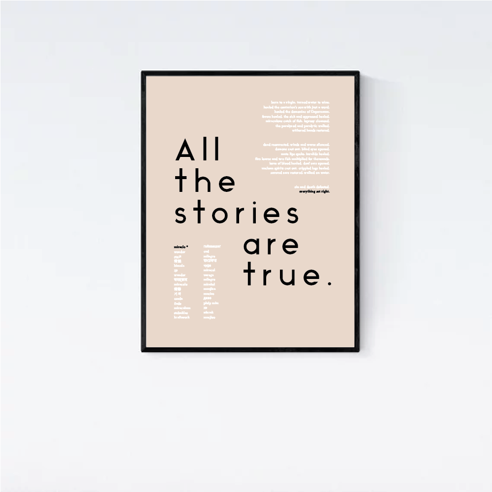 """All the Stories are True"" Poster"