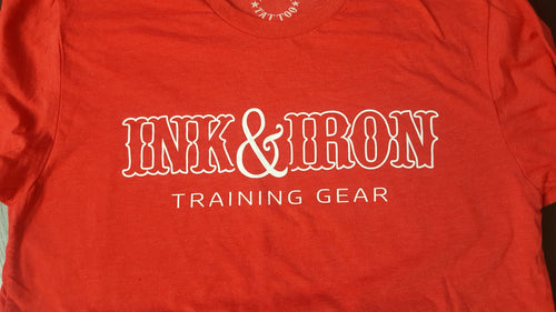 Ink & Iron Training Gear T - Red - Ink&Iron Clothing