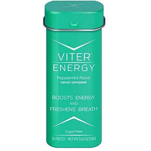 Viter Energy Caffeinated Mints-Peppermint-Single Tin