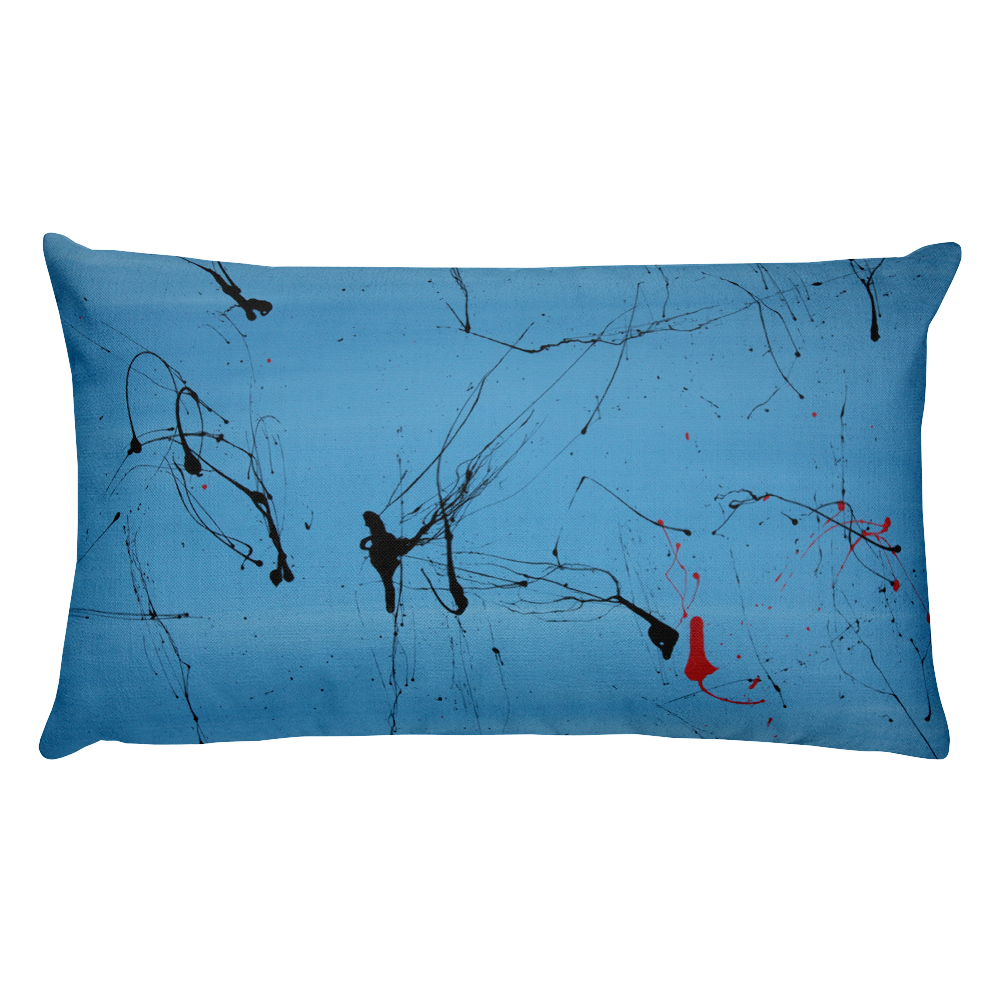 Pigments In The Sky Throw Pillow