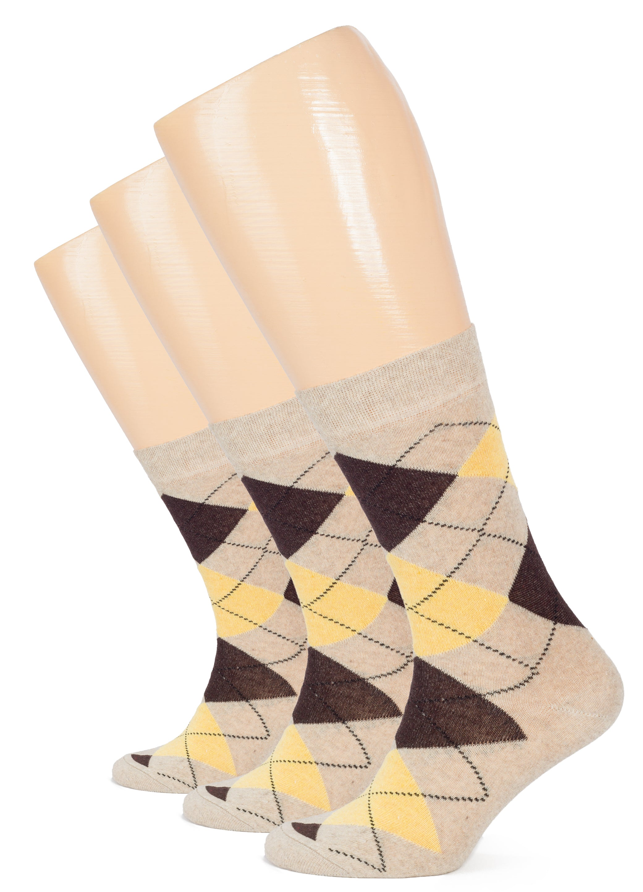 Hugh Ugoli Womens Cotton Argyle Socks Fun Colorful Women's Crew Socks, 4 Pairs