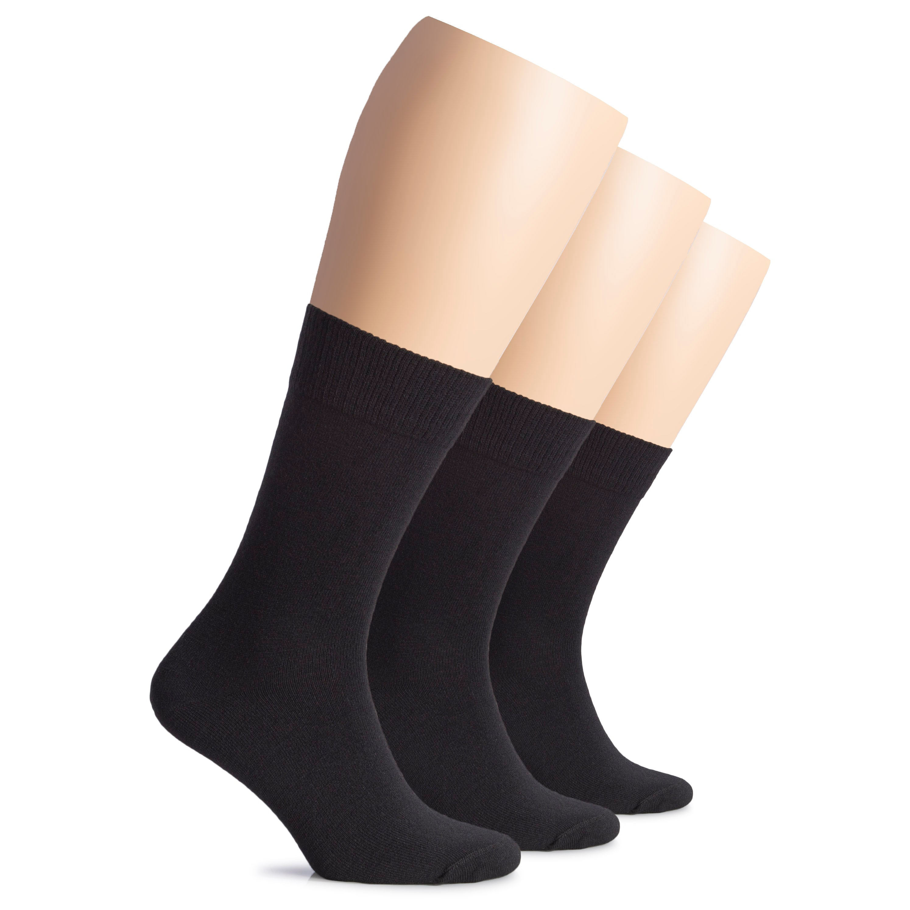 Hugh Ugoli Women's Wool Crew Socks, Warm, Soft, 3 Pairs