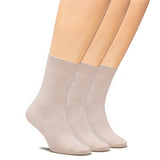 Women's High Ankle Cotton Socks Thick Warm Socks with Seamless Toe and Full Cushion, 3 Pairs