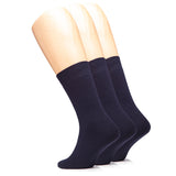 Men's High Ankle Cotton Socks Thick Warm Socks with Seamless Toe and Full Cushion, 3 Pairs