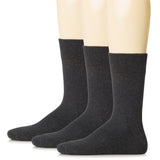 Hugh Ugoli Men Cotton Dress Socks XL / L / M / S Sizes, 3 Pairs
