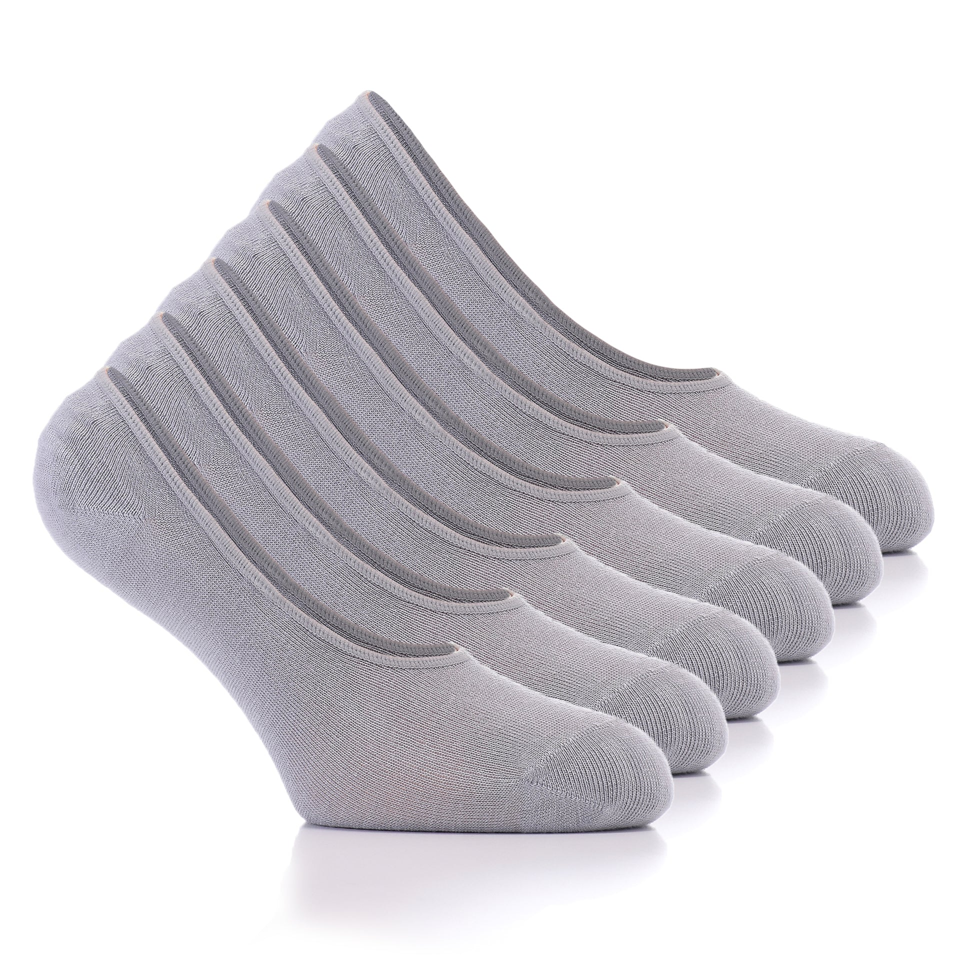 Hugh Ugoli Women's No Show Liner Socks Bamboo Viscose Thin Casual Seamless Toe Socks, 6 Pairs, Shoe Size: 6-9
