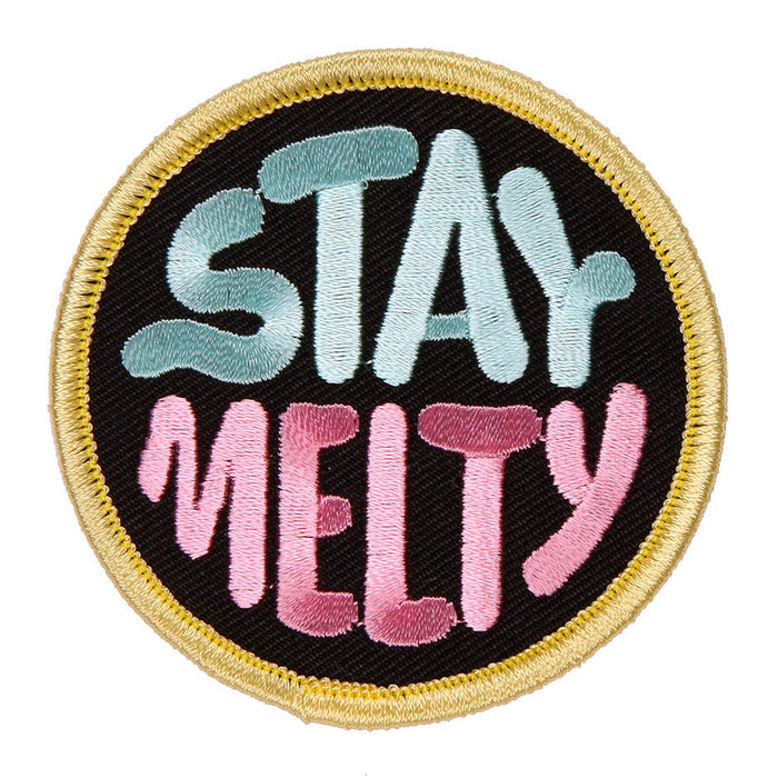 Stay Melty Circle Iron-On Patch