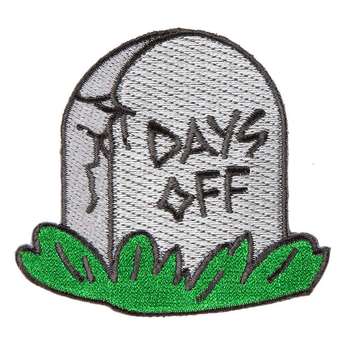 No Days Off Iron-On Patch