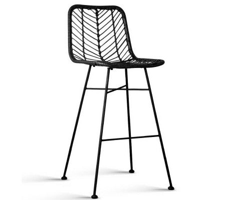 Jeremy -Handmade Rattan Bar Stools (Set of 2)
