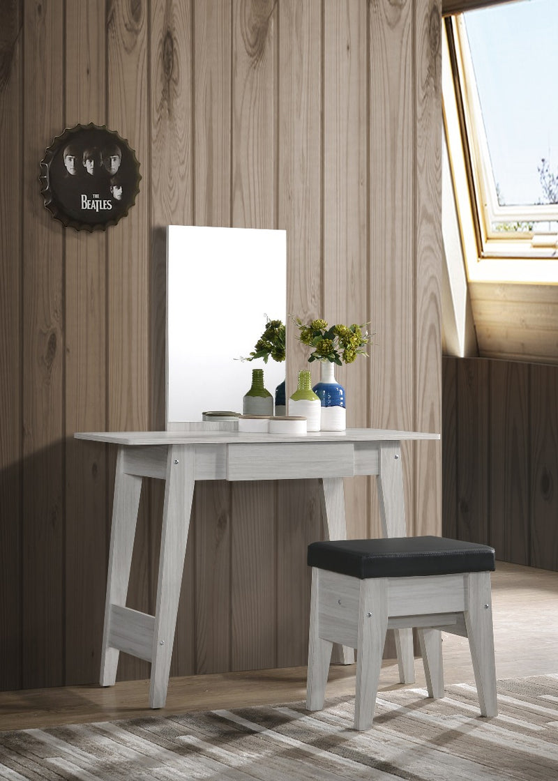 White Oak Dressing Table With Stool demo picture