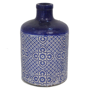 Mosaic Glazed Terracotta Vase, Large - HomeSimplicity