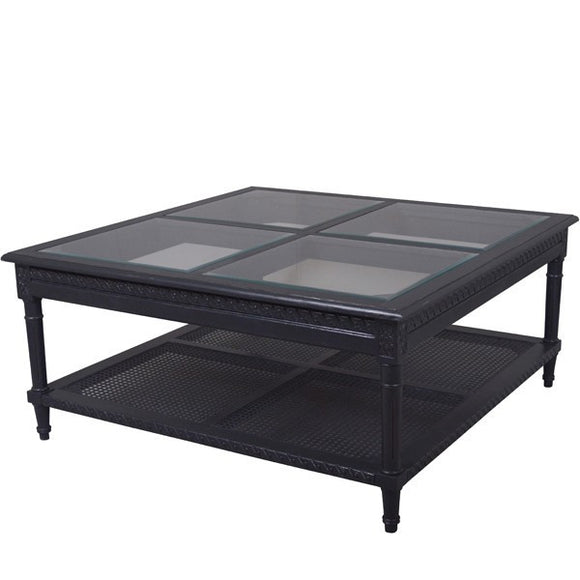 Polo Coffee Table - Black - Square - HomeSimplicity