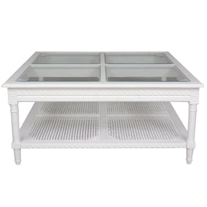 Polo Coffee Table - White - Square - HomeSimplicity