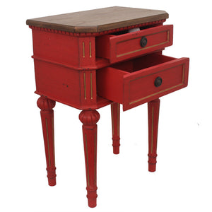 Moulin Bedside Table - Red - HomeSimplicity