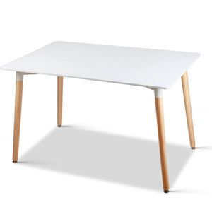 Rectangular 6 Seater Dining Table White - HomeSimplicity