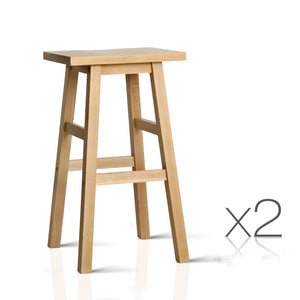 Baden Bar Stools Natural - Set of 2 - full view