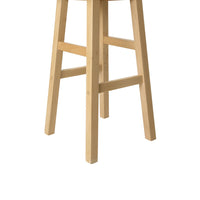 Baden Bar Stools Natural - Set of 2 - leg close up