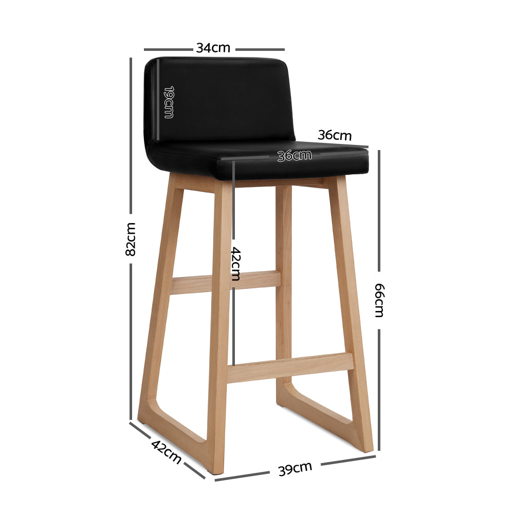 Bolero - Black Bar Stools (Set of 2) measurements