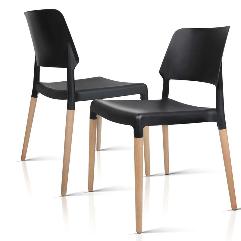 Betty - Stackable Dining Chairs side by side view