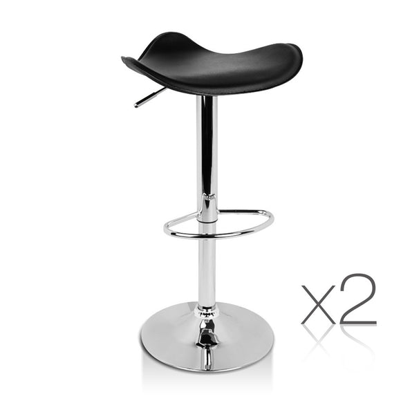 Oliver - PVC Leather Backless Bar Stool (Set of 2) - HomeSimplicity