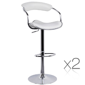 Damon - PU Leather Bar Stool (Set of 2) - HomeSimplicity