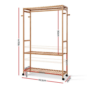 Bamboo Clothes Rack measurements